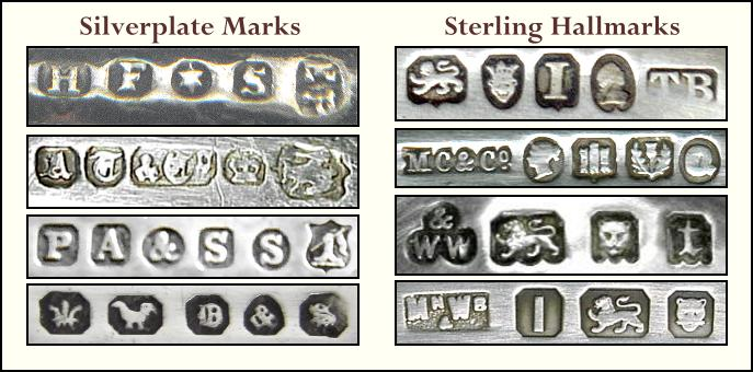 Silverplate Marks and Sterling Hallmarks