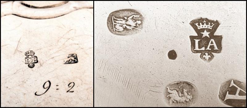silver flatware stamp