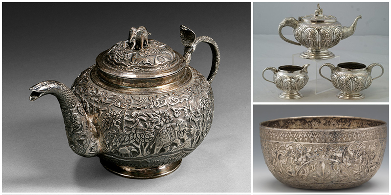 Baltimore Repousse silver items