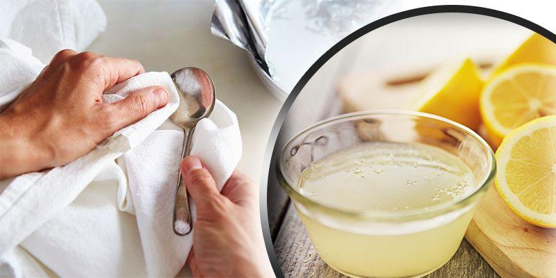 Lemon juice antique cleaner